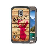 My Life is a Country Song Quote Pink Deer Buck Head Music Notes Wood Samsung GALAXY S5 Active Hard Plastic Phone Case - FITS S5 ACTIVE ONLY!